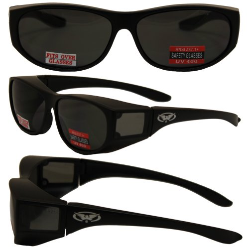 e792c5adf2 Escort Advanced System Safety Glasses Fits Over Most Prescription Eyewear-MATTE  Black Frame - Buy Online in Oman.