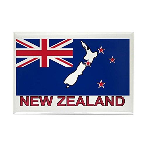 CafePress New Zealand Flag (Labeled) Rectangle Magnet, 2