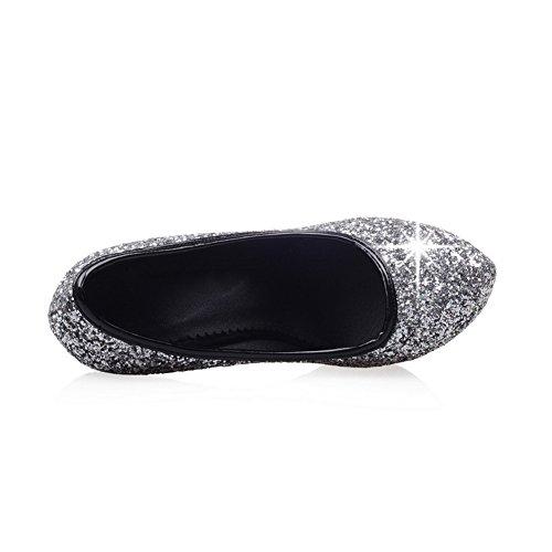 Adee Glitter Breathing Sequins Pumps Shoes Black Ladies vrgxHqvwR