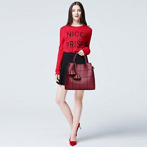 Shoulder for Leather Wine Trendy Bronze amp;DORIS Crossbody a Lovely Female Women Red NICOLE Pink Bag Handbags Light 1qT08wfF