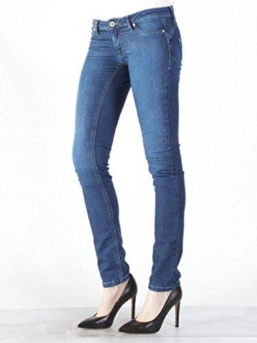 Jeans Look Carrera Modello Scuro Tessuto Blu Donna Vestibilità Slim 011 Vita Elasticizzato Per 788 7880980a Dritto Bassa Jogger Lavaggio Denim Rn81rw8Yqd
