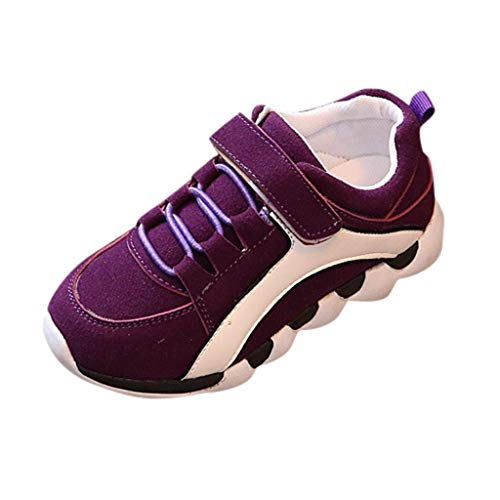 Children Sneaker FAPIZI Summer New Boys Girls Flock Flat Sport Running Short Mesh Breathable Casual Shoes Purple