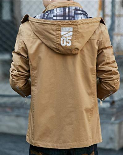 Jacket Sport Tactical Hooded Outwear Khaki Men's Gocgt Outdoor Coats Combat Military SWqZ7nwpE