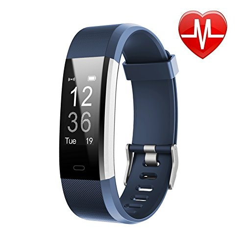 LETSCOM Fitness Tracker HR, Activity Tracker Watch with Heart Rate Monitor, Waterproof Smart Fitness Band with Step Counter, Calorie Counter, Pedometer Watch for Kids Women and Men ()