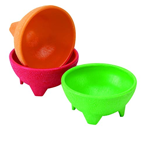 IMUSA USA MEXI-2001 Plastic Salsa Dishes 3-Piece, Red, Orange, Green ()