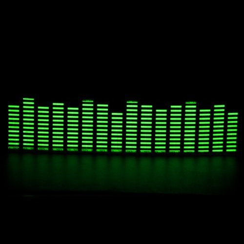 1 X 45x11cm DC 12V Sound Sensitive Music Beat Activated Car Sticker Equalizer Glow Green LED Light with Car Cigarette Charger Universal Decoration by Aurnoc (Image #5)