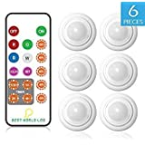 Puck Lights - BWL LED Multi Color LED Accent Lights with Remote Control, 6 Pack