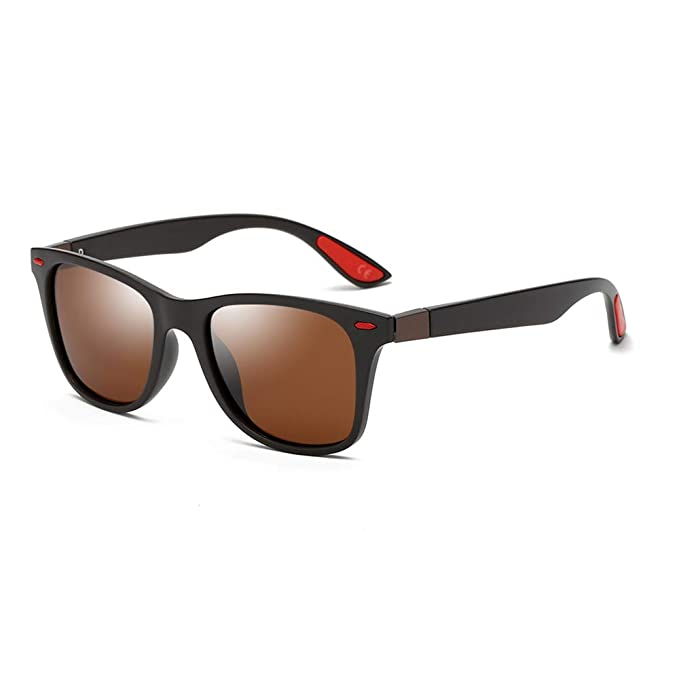 AMZTM Gafas de Sol Retro Clásicas para Hombre Polarizadas Lente TAC Marco TR90