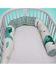 SWNY Babybedje Bumper Wrap Rond Bescherming Kinderbed Kussen Kinderbed Bed Hoofd Guard Babywieg Liner Comfortabele Beschermende Pad Voor Kids Pasgeborenen Baby 12x190CM/4.7x75.5 inch