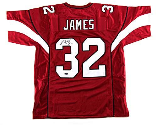 James Autographed Red Custom Jersey - Edgerrin James Autographed/Signed Arizona Custom Red Jersey