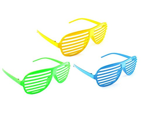 niceEshop(TM) 3pcs Plastic Slotted Shades - Shutter Shading Glasses