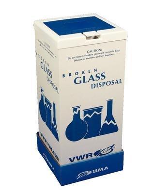 (VWR 56617-804 Broken Glass Floor Disposal Carton, 25.4 cm Height, 20.3 cm Width, 20.3 cm Length (Pack of 6) )