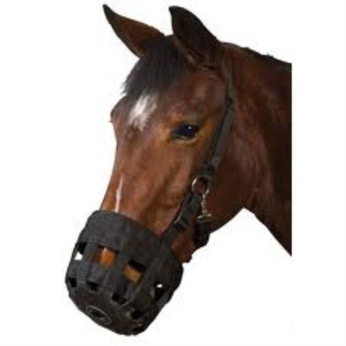 Weatherbeeta USA 072624 Pony Roma Grazing Muzzle - Black
