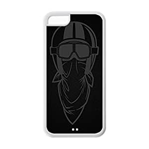 Cool iPhone 5C White Case,Lilyboys Customized Soft Durable TPU Back Case for iPhone 5C