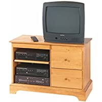 Entertainment Console Heirloom Pine Kit 25H | Renovators Supply
