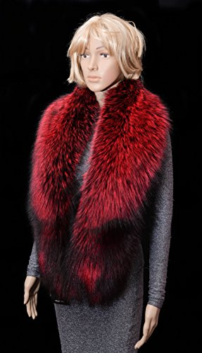 Royal Saga Furs Red Silver Fox Fur Winter Shoulder Wrap Scarf Boa Stole by Your Furrier
