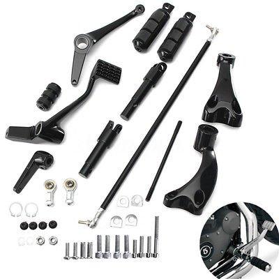 ブラックForwardコントロールW /ペグレバーfor Harley Sportster 883 1200 04 – 13 11 12   B078J8MCN5