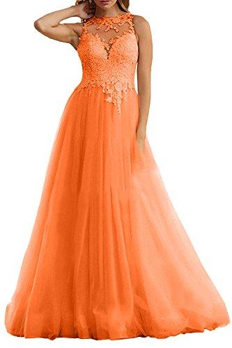 La Champagner Abiballkleider Linie Abendkleider Damen Orange Prinzess Abschlussballkleider Braut A Marie O4nrFq41