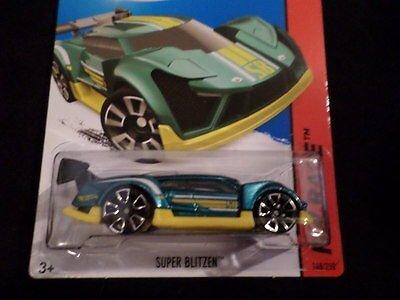 (Hw Hot Wheels 2015 Hw Race #148/250 Super Blitzen Hotwheels Teal/yellow by Hot Wheels)