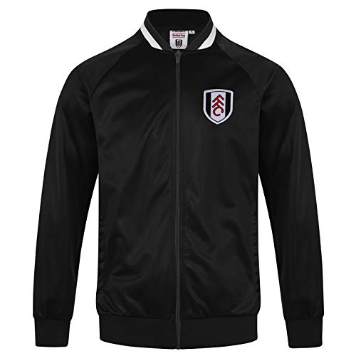 (Fulham FC Official Soccer Gift Mens Retro Track Top Jacket 3XL)