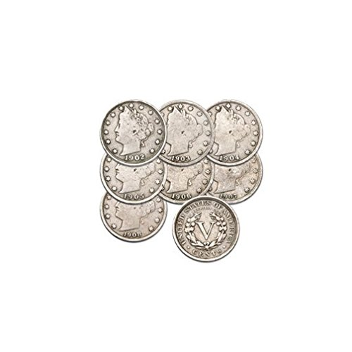 - 1883 to 1912 Liberty Nickels Set of 7 Coins Set Good