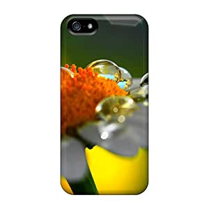 Hard Plastic Iphone 5/5s Cases Back Covers,hot Daisy Raindrops Cases At Perfect Customized