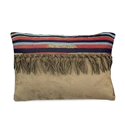 "Veratex The Santa Fe Collection 100% Polyester Decorative Bedroom Tribal Southwestern Boudoir Pillow, Tan - DELIGHTFUL AND DECORATIVE: These Decorative Boudoir Pillows Measure 20"" x 14"" x 1"" and Weigh 1.4 LBS. Each Boudoir Pillow is Proudly Manufactured in the United States. MAGNIFICENCE AND APPEAL: This Magnificent and Elegant, Decorative Pillow is Carefully Crafted From Supreme, 100% Polyester; it is Soft to the Touch as Well as Aesthetically Appealing. KEY COMPONENT OF A STUNNING ENSEMBLE: When Paired With a Proper Bedroom Collection, This Boudoir Pillow Effectively Contributes to the Creation of a Stunning Bedroom Ensemble. - living-room-soft-furnishings, living-room, decorative-pillows - 41RiU9DoaCL. SS400  -"