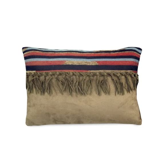 "Veratex The Santa Fe Collection 100% Polyester Decorative Bedroom Tribal Southwestern Boudoir Pillow, Tan - DELIGHTFUL AND DECORATIVE: These Decorative Boudoir Pillows Measure 20"" x 14"" x 1"" and Weigh 1.4 LBS. Each Boudoir Pillow is Proudly Manufactured in the United States. MAGNIFICENCE AND APPEAL: This Magnificent and Elegant, Decorative Pillow is Carefully Crafted From Supreme, 100% Polyester; it is Soft to the Touch as Well as Aesthetically Appealing. KEY COMPONENT OF A STUNNING ENSEMBLE: When Paired With a Proper Bedroom Collection, This Boudoir Pillow Effectively Contributes to the Creation of a Stunning Bedroom Ensemble. - living-room-soft-furnishings, living-room, decorative-pillows - 41RiU9DoaCL. SS570  -"