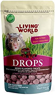 Living World Drops Hamster Treat, 2.6-Ounce, Field Berry