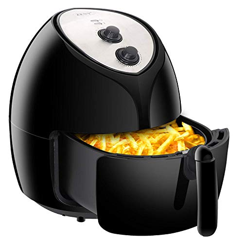 SUPER DEAL NEWEST XXL 5.8 Quart Electric Air Fryer Oil Free w/Recipes, Cookbook, Non-Stick Coating Dishwasher Safe Parts