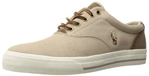 Polo Ralph Lauren Men's Vaughn Sneaker, Dark Tan, 8 D US