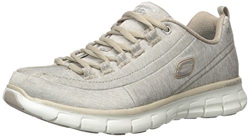 Absatz Einlegesohle gepolsterte integriertem Sneakers Setter Skechers klassischem sportlich Damen nbsp;Trend Foam Taupe Design im und Synergy Memory mit a4xqxPfUw1