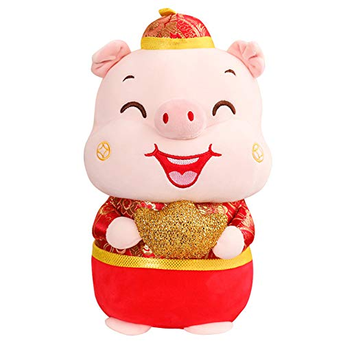 - Muabobo 2019 Chinese New Year Pig Zodiac Mascot Dolls Plush Stuffed Animal Toys for Activities Party Gift