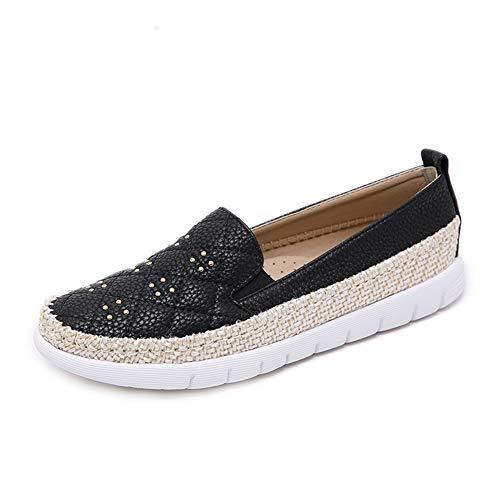 Espadrilles Cuir À Mocassins Noir En Chaussures La Confortable Mode Bas Qzx qnOUWtwx4W