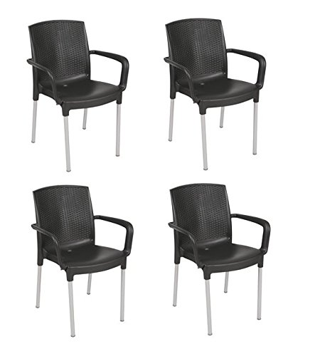 Tensai Diana Armchair in Black - Set of 4 from Tensai