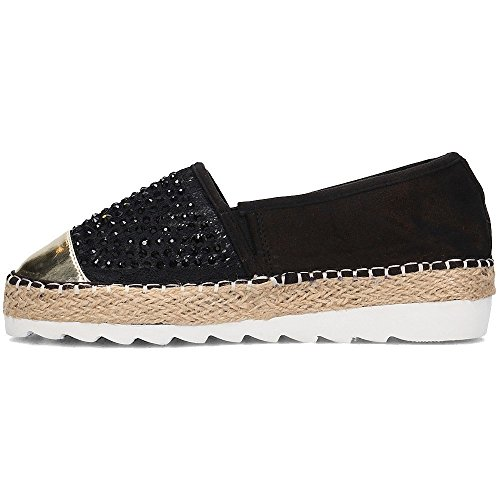 Zapatos Mujer Menbur Alpargatas 07995 Negro Uqfxw5vaf
