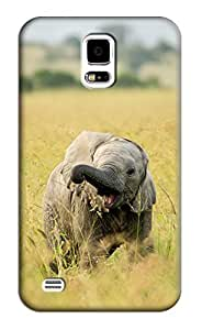 Elephant Baby Hard Back Shell Case / Cover for Samsung Galaxy S5
