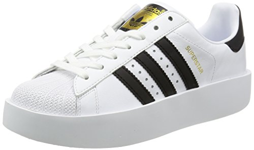 adidas Superstar Bold W, Chaussures de Fitness Femme Blanc (Footwear White/Core Black/Gold Metallic 0)