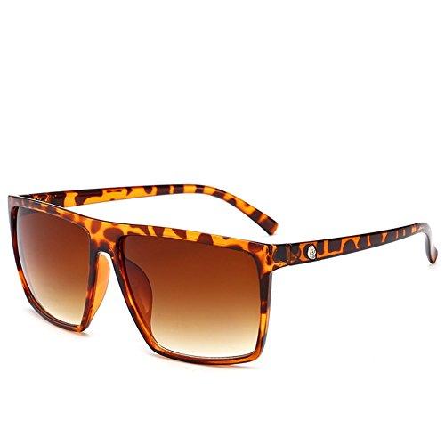 del gafas Las NIFG sol de forman marco E gafas grandes de las cuadradas sol reflexivas 7UnxngH5wT