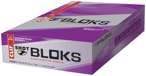Clif Shot Bloks, Mountain Berry, Pack of 18 ()