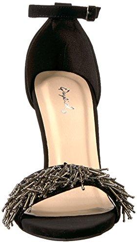 Qupid à Sandales Unique Femme Nubuck Semelle Noir xSOaRnqp