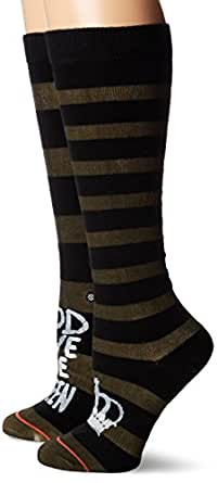 Stance Women's Save The Queen Boot Sock, Dark Olive, One Size