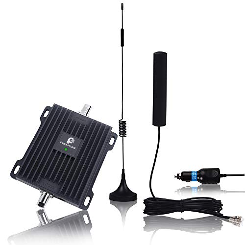 Cell Phone Signal Booster for Car,Truck and RV - Verizon AT&T T-Mobile GSM 3G Repeater Reduce Dropped Calls in Vehicle - Dual Band 850/1900MHz Band 2/5 Amplifier and Magnet Antenna Kit ()