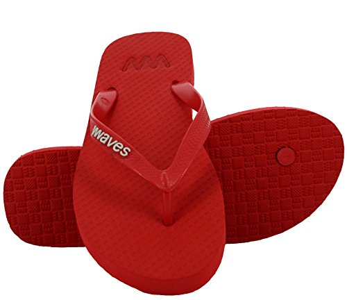 Infradito In Gomma Naturale 100% Per Uomo E Donna Pantofole Sandali Unisex Regular Fit - Essenziale Rosso