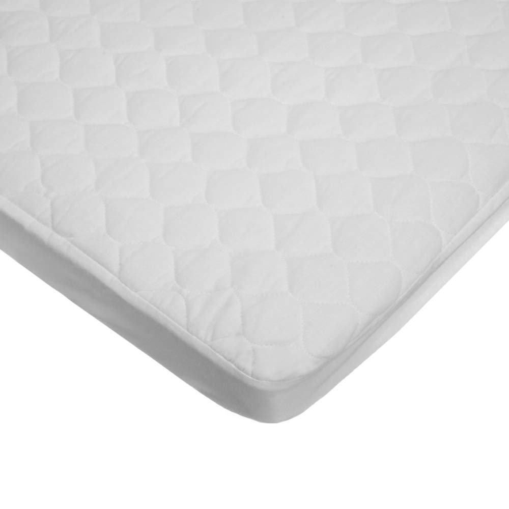 American Baby Company Extra Durable Waterproof Quilted Cotton Crib Mattress Pad Cover, White 2763S-WT