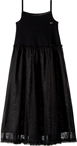 Sonia Rykiel Kids Girl's Agnes Maxi Dress w/Tulle Skirt (Little Kids/Big Kids) Black 14 Years by Sonia Rykiel Kids