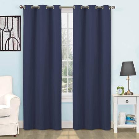 42x63 ,Eclipse Kids Dayton Energy-Efficient Curtain Panel , Color: Navy (Eclipse Kids 63)