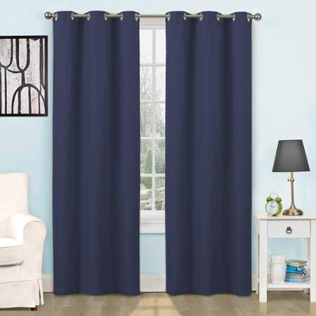 Eclipse Kids Dayton Energy-Efficient Curtain Panel,Size 42 x 63, Color NAVYBLUE (Eclipse Curtains Dayton compare prices)