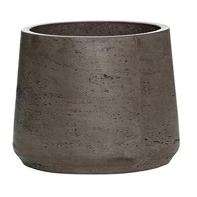 "Chocolate indoor outdoor Planter - Fiberstone Flower Pot 11""H x 13.5""W - by Pottery Pots: Home Improvement"