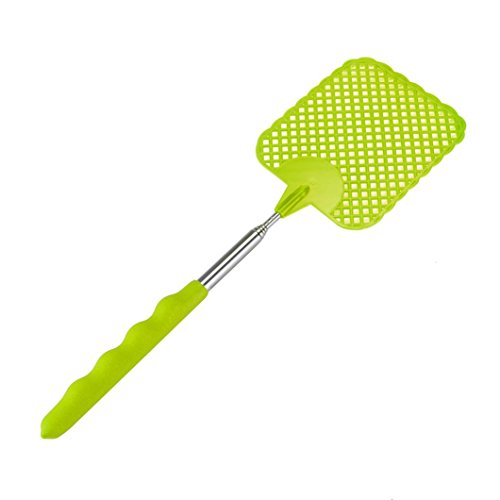 Mosquito Repellent, Elevin(TM) Plastic Telescopic Extendable Fly Swatter Prevent Pest Mosquito Tool (Green) -